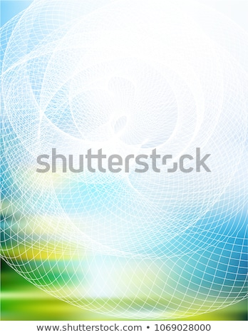3d blue abstract mesh background with circles lines and shapes stock photo © hunthomas