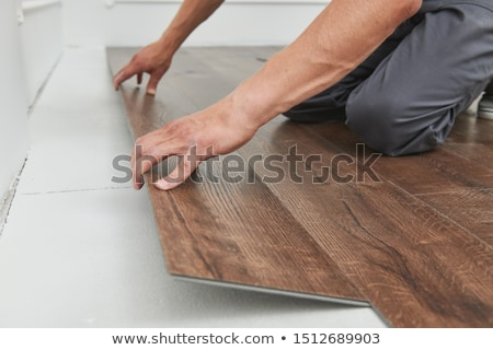 Professional laying floor Stock photo © photography33