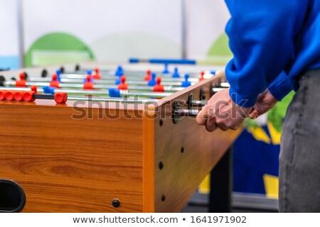 retro · speelgoed · voetbal · voetballer · hangend · metaal - stockfoto © leungchopan