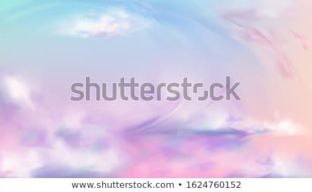 regenboog · blauwe · hemel · natuurlijke · fenomeen · wolken · abstract - stockfoto © silkenphotography