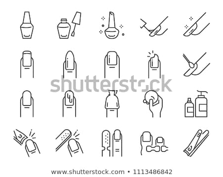Icon nail clipper Stock photo © zzve