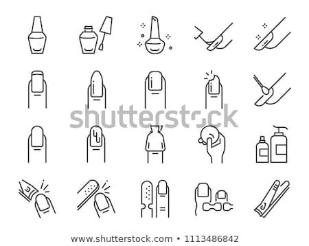 Icon nail clipper Stock photo © zzve