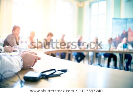 Konferencia asztal székek üzlet iroda megbeszélés Stock fotó © jezper