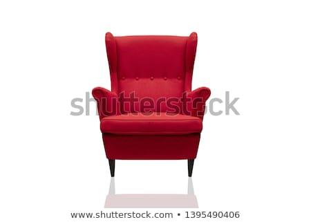 Moderne Rood fauteuil geïsoleerd mode ruimte Stockfoto © tungphoto
