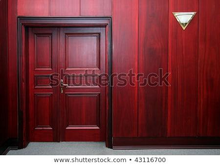 luxury mahogany interior with door Stock photo © Mikko