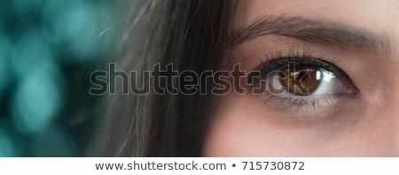 Güzel rüya gibi kız gözler geniş açmak Stok fotoğraf © evgenyatamanenko
