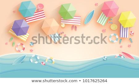 лет пляж женщину бумаги человека счастливым Сток-фото © serdjo