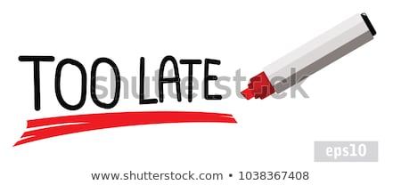 Overdue, written in red ink on white paper. Stock photo © latent