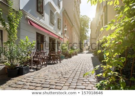 old town street in vienna stock photo © tannjuska