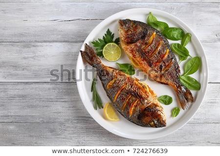 морем продовольствие рыбы острый зубов свежих продуктов Сток-фото © d13