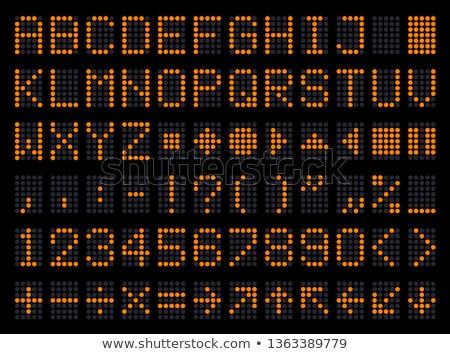 números · numérico · símbolos · sparkler · preto - foto stock © silense