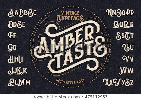 vector retro type font vintage alphabet stock photo © odes