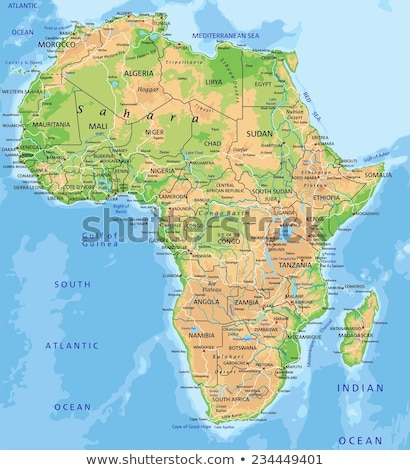 Africa map with Senegal Stock photo © Ustofre9