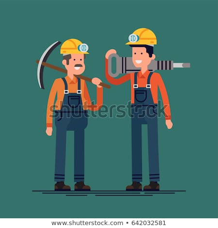 Worker with a pickaxe Stock photo © photography33