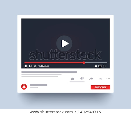 media · speler · interface · video · bar · film - stockfoto © jugulator