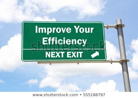 improve your efficiency concept stock photo © tashatuvango