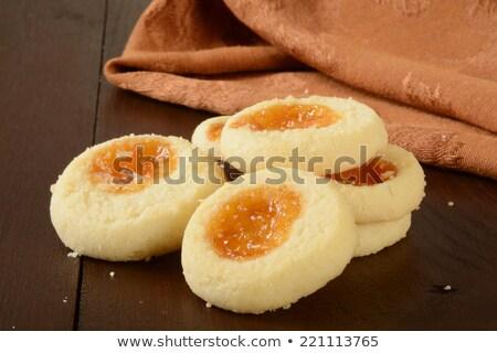Gurme reçel kurabiye meyve gıda kahve Stok fotoğraf © MSPhotographic