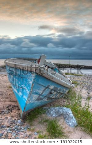 漁船 空っぽ ビーチ hdr 画像 ストックフォト © CaptureLight