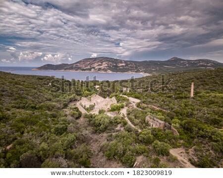 古代 建物 海岸 コルシカ島 ターコイズ 地中海 ストックフォト © Joningall