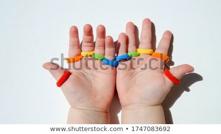 Two red hair elastics Stock photo © bdspn