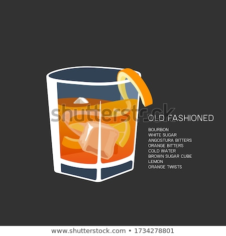 Whisky and lemon cocktail on rocks isolated on white Stock photo © Hochwander