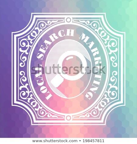 Local Search Marketing. Pastels Vintage Design Concept. Stock photo © tashatuvango