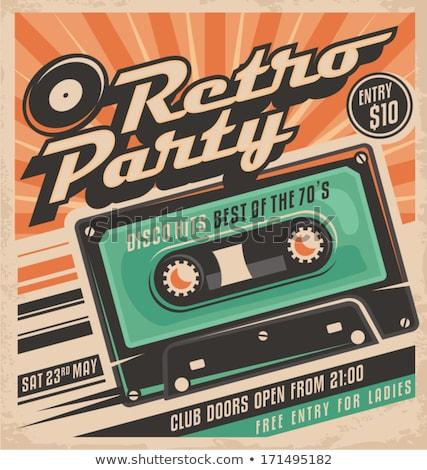 Audio cassette nastro retro poster eps Foto d'archivio © Voysla