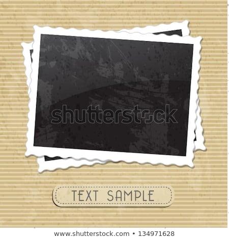 nostalgia scrapbook frame stock photo © myfh88