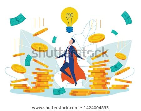 Idéia dinheiro brilhante empresário ardente Foto stock © sabelskaya