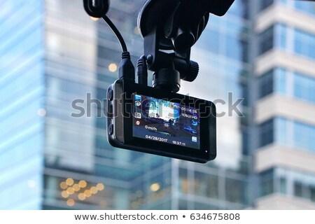 car video recorder instaled on the window stock photo © tarczas