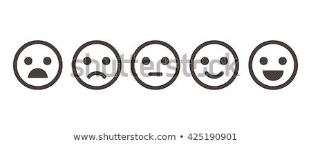 Cartoon улыбка изолированный белый jpg Сток-фото © Voysla