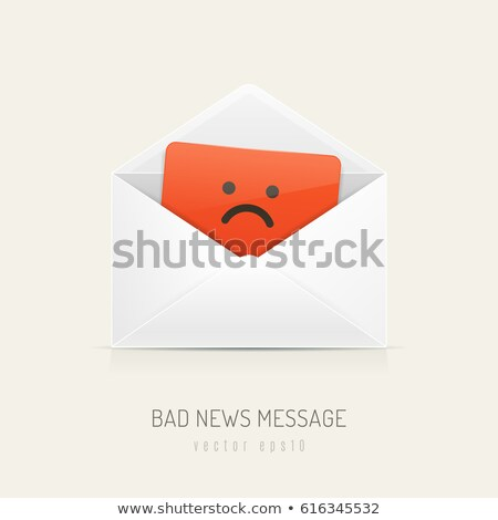 Triste visage mail enveloppe suspendu Photo stock © stevanovicigor