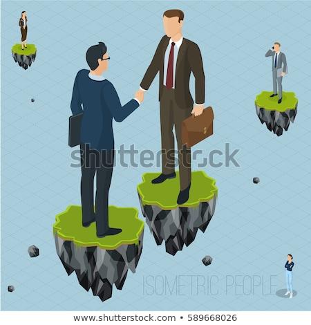 Vrouw zoals levitatie fantasie afbeelding Stockfoto © tobkatrina