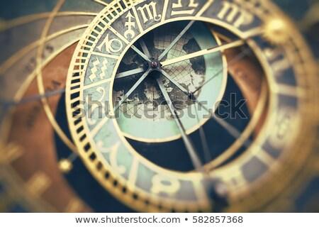 Csillagászati óra naptár kilátás Prága Csehország Stock fotó © FER737NG