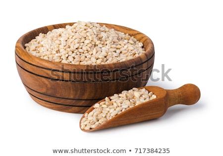 Parel gerst textuur hout gezondheid keuken Stockfoto © yelenayemchuk