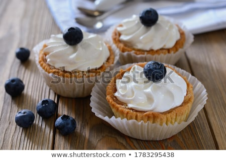 Shortcrust pastry with whipped cream Stock photo © dariazu