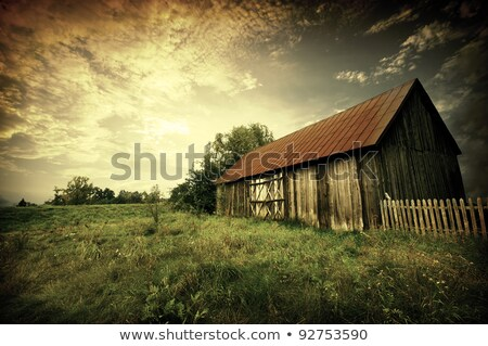 old broken shed sunset stock photo © rghenry