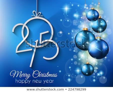 2015 · 陽気な · クリスマス · 明けましておめでとうございます · チラシ - ストックフォト © davidarts