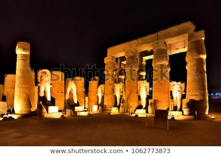 Iki tapınak luxor Mısır taş Afrika Stok fotoğraf © eleaner