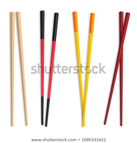 суши палочки для еды изолированный белый китайский Японский Сток-фото © karandaev