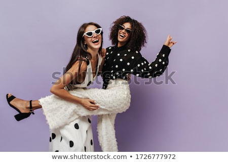 Trendy Woman posing in Pants and Blouse Stock photo © gromovataya