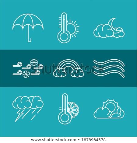 Tęczy jasne parasol proste ikona moda Zdjęcia stock © aliaksandra