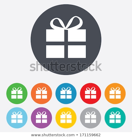 Niebieski przycisk obecnej ikona ślub projektu Zdjęcia stock © aliaksandra