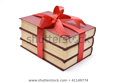 a stack of books with a red ribbon stock photo © valeriy