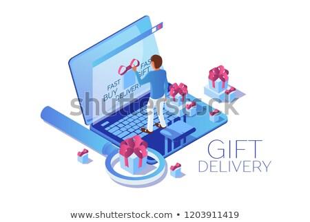 Stock fotó: Keresés · ajándékok · izolált · 3D · kép · terv