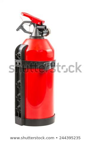 Hordozható tűzoltó készülék piros izolált fehér biztonság Stock fotó © manfredxy