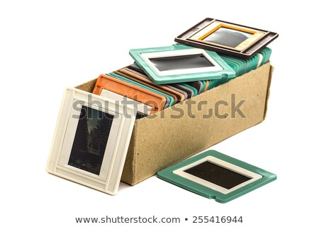 Old slides in a cardboard box Stock photo © Valeriy
