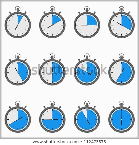 Abstract chronometer icon gray color Stock photo © aliaksandra