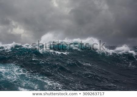 óceán · vihar · gránit · sziget · tengerpart · égbolt - stock fotó © MichaelVorobiev