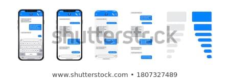 Sms mobiele ingesteld illustratie vier kleurrijk Stockfoto © Anna_leni
